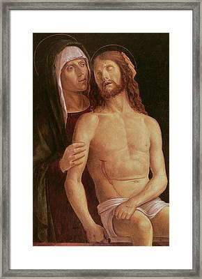 Pieta Framed Print by Gentile Bellini