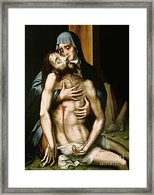 Pieta Framed Print by Luis de Morales