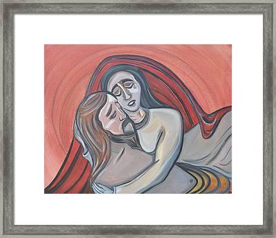 Pieta Of Love And Sorrow Framed Print by Danielle Tayabas