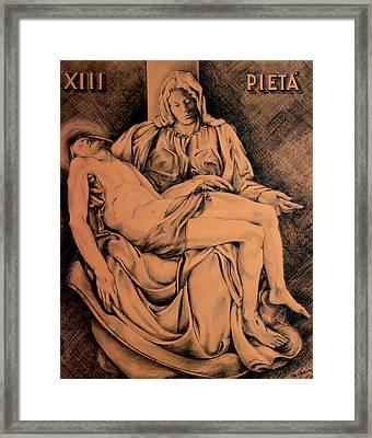 Pieta Study Framed Print by Hanne Lore Koehler