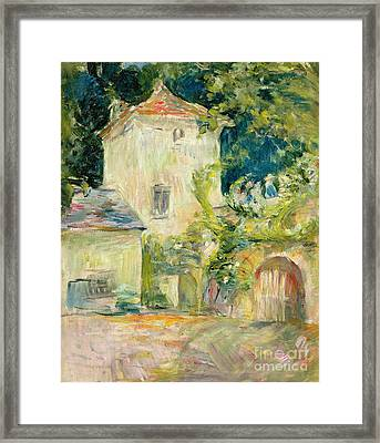 Pigeon Loft At The Chateau Du Mesnil Framed Print by Berthe Morisot