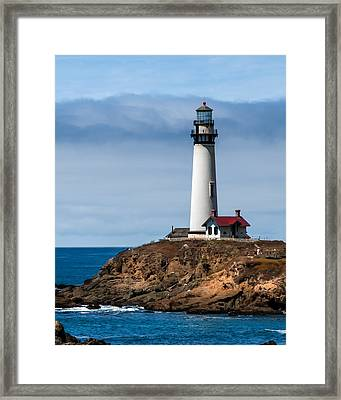 Pigeon Point Lighthouse Framed Print by Jan and Burt Williams