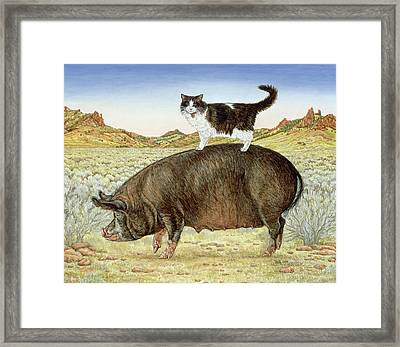 Piggyback-riding At Breteche Creek Framed Print by Ditz