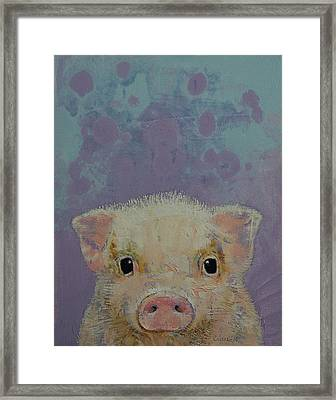 Piglet Framed Print by Michael Creese