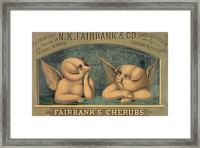 Pigs With Wings Framed Print by American School