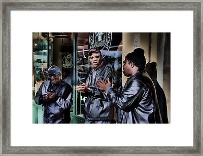 Pike Place Trio Framed Print by David Patterson