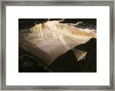 Pikes Peak Flight Framed Print by Nils Beasley