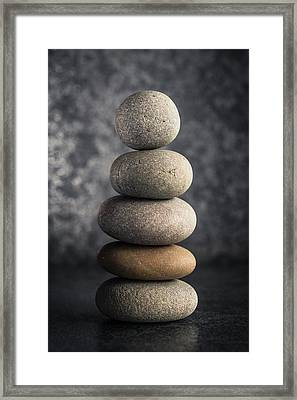Pile Of Pebbles Framed Print by Marco Oliveira