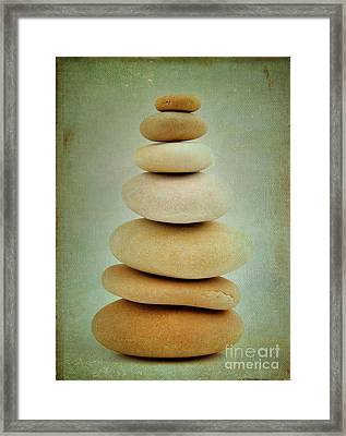 Pile Of Stones Framed Print by Bernard Jaubert