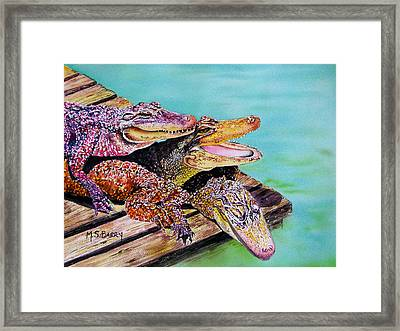 Pile Up Framed Print by Maria Barry