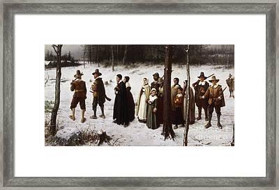 Pilgrims Going To Church, 1867 Framed Print by George Henry Boughton
