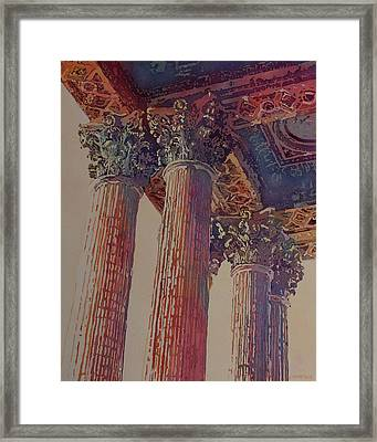 Pillars Of The Humanities Framed Print by Jenny Armitage