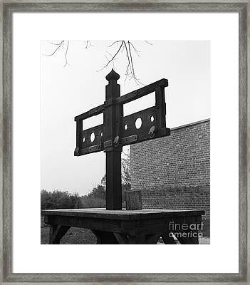 Pillory In Colonial Williamsburg Framed Print by H. Armstrong Roberts/ClassicStock