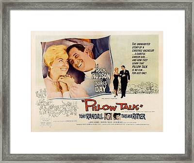 Pillow Talk, Doris Day, Rock Hudson Framed Print by Everett