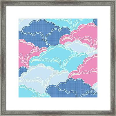 Pillows In The Sky Framed Print by Elizabeth Tuck