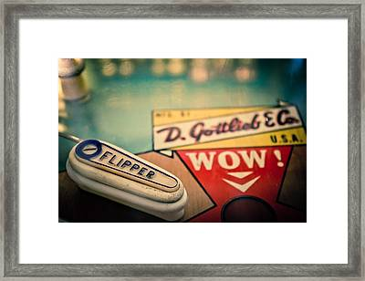 Pinball - Wow Framed Print by Colleen Kammerer