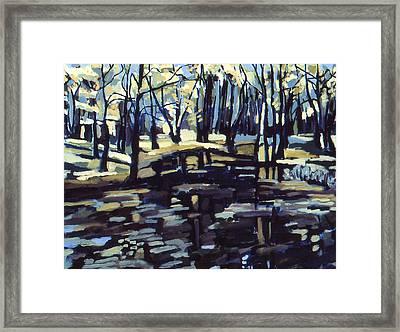 Pine Barrens Framed Print by Doris  Lane Grey