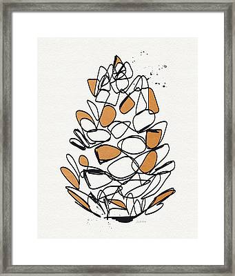 Pine Cone- Art By Linda Woods Framed Print by Linda Woods