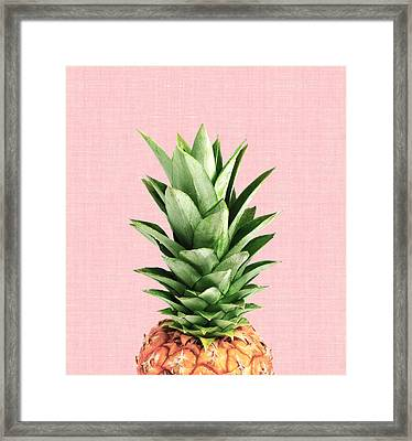 Pineapple And Pink Framed Print by Vitor Costa