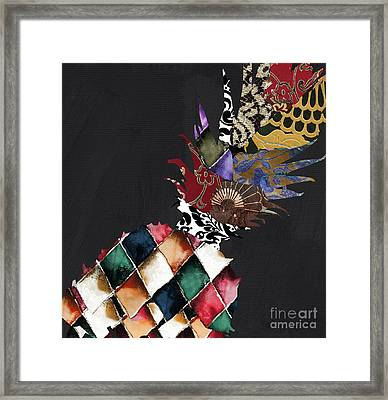 Pineapple Brocade Framed Print by Mindy Sommers