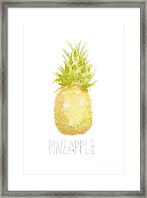 Pineapple Framed Print by Cindy Garber Iverson
