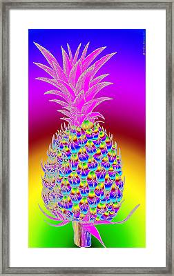 Pineapple Framed Print by Eric Edelman