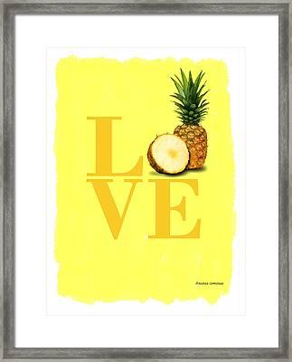 Pineapple Framed Print by Mark Rogan