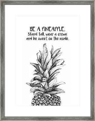 Pineapple Framed Print by Nancy Ingersoll