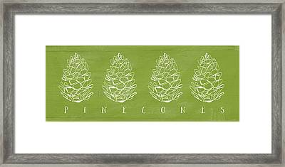 Pinecones-art By Linda Woods Framed Print by Linda Woods