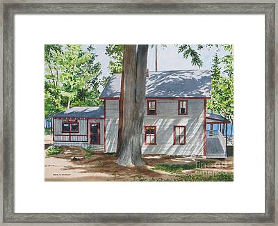 Pinehurst Cottage Framed Print by Karol Wyckoff