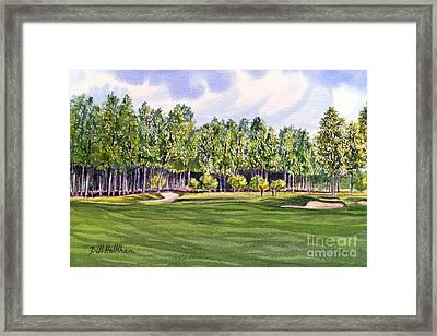 Pinehurst Golf Course 17th Hole Framed Print by Bill Holkham