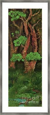 Pines By The Brook Framed Print by Anna Folkartanna Maciejewska-Dyba