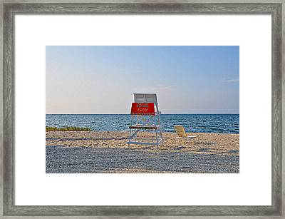 Piney Point Beach Framed Print by Bill Cannon