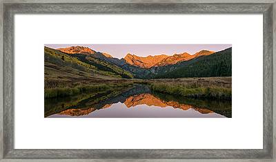 Piney River Panorama Framed Print by Aaron Spong
