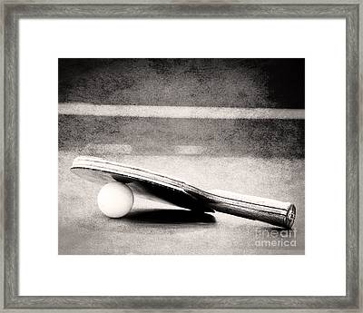 Ping Pong Framed Print by Emily Kay