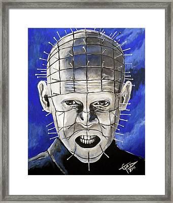 Pinhead - Hellraiser Framed Print by Tom Carlton