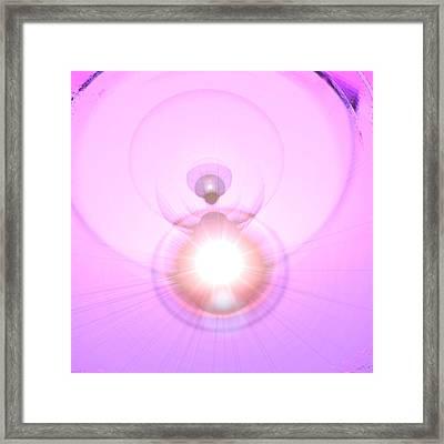 Pink Angel-light Framed Print by Ramon Labusch