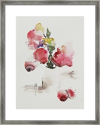 Pink Framed Print by Becky Kim