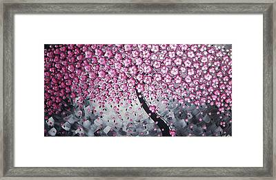 Pink Blossoms Framed Print by Ilonka Walter