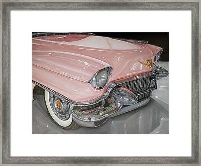 Pink Caddy Framed Print by Vic Vicini