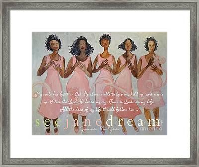 Pink Diva Faith Framed Print by Janie McGee