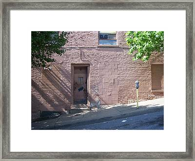 Pink Door Framed Print by Donovan Hubbard