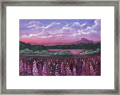 Pink Flower Field Framed Print by Anastasiya Malakhova