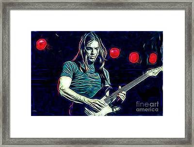 Pink Floyd David Gilmour Collection Framed Print by Marvin Blaine