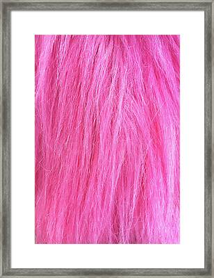 Pink Fur Background Framed Print by Tom Gowanlock