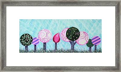 Pink Grove Framed Print by Graciela Bello