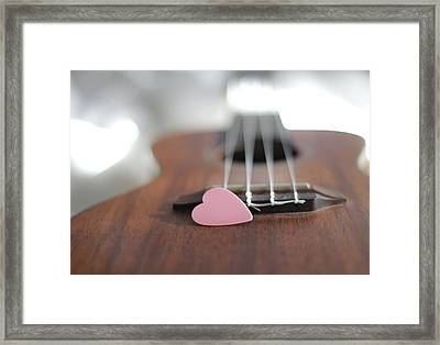 Pink Heart Framed Print by © 2011 Staci Kennelly