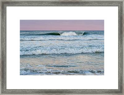 Pink Horizon Seaside New Jersey Framed Print by Terry DeLuco