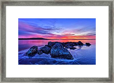 Pink Ice At Dawn Framed Print by Bill Caldwell -        ABeautifulSky Photography