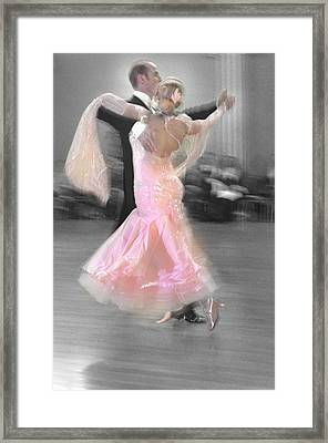 Pink Lady Dancing Framed Print by Kevin Felts